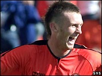 Dundee United striker Lee Miller