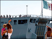 Italian troops leaving Brindisi naval base, 29 Aug 06