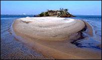 Peñon con playa en medio del Río Paraná, enviada por Gastón Auriol