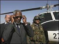 Kofi Annan arrives in Israel