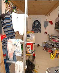 Room of Natascha Kampusch in house of alleged kidnapper