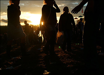 Sunset at the Leeds festival