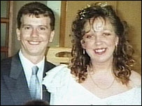 Martin and Wendy Smith on their wedding day
