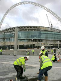 The new Wembley stadium has hit major delays