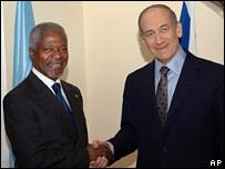 Кофи Аннан и Эхуд Ольмерт