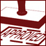 Approved rubber stamp graphic