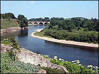 River Tweed at Coldstream - Undiscovered Scotland