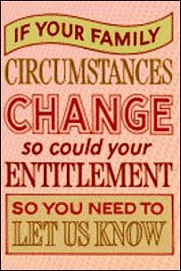 HMRC tax credits web site