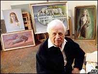 Vladimir Tretchikoff in his studio