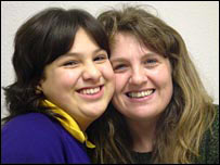 Molly and her mother Louise Campbell