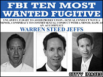 FBI Ten Most Wanted poster for Warren Jeffs