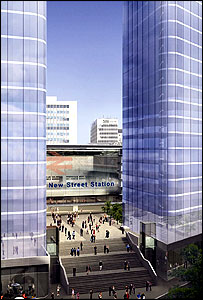 Artist impression of sky scrapers