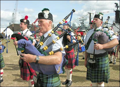 PLYMOUTH - The City of Plymouth Pipe Band.