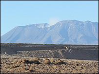 Lascar volcano  Image: BBC/Paul Rincon