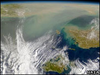 Dust storm (Image: Nasa Goddard Space Flight Center)