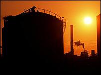 An oil refinery in California