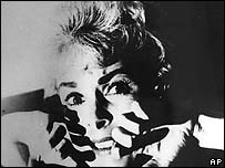 Janet Leigh in a scene from Psycho
