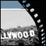 A film roll and the LA Hollywood Sign