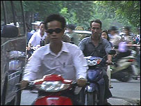 Busy road in Hanoi