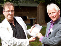 Author Roger Hutchinson, left, and John Randall (Pic: Norman Campbell)