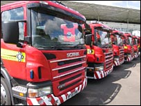 Strathclyde Fire and Rescue engines
