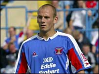 Adam Murray in action for Carlisle