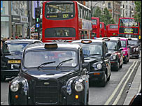 Traffic in Oxford Street
