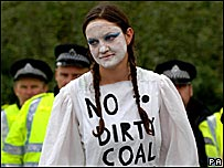 Anti-coal protester