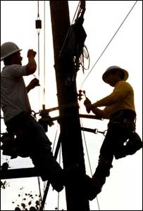 Linemen at work, Eyewire