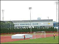 Leckwith stadium with Ninian Park in the background