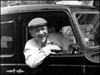 Sid James in BBC drama 'Taxi'