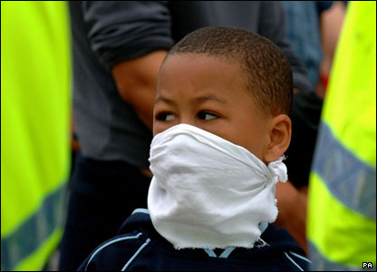 Protester at Drax power station