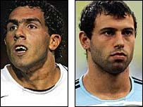 CarlosTevez (left) and Javier Mascherano
