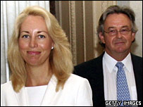 Valerie Plame and Joe Wilson in a July 2006 file photo
