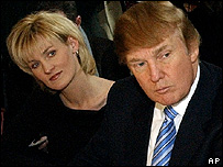 Carolyn Kepcher and Donald Trump