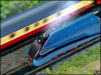 "Hornby 'Live Steam Mallard"" model train"