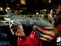 Model plane in shop