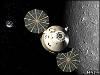 Artist impression of Orion at the Moon (Nasa)