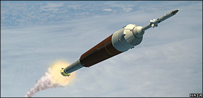 Artist impression of Ares launcher (Nasa)