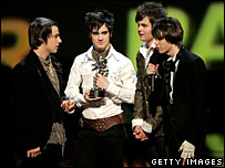 Jon Walker, Brendon Urie, Spencer Smith and Ryan Ross of Panic! at the Disco