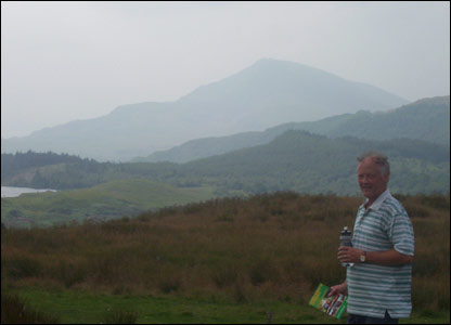 Mike Hunter on a weekend walk around the hills in Betws-y-Coed in north Wales, just after he retired (sent by his son Keith)
