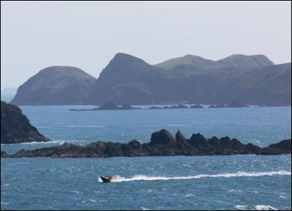 Simon Elias took this picture of Ramsay Island from St David's Head