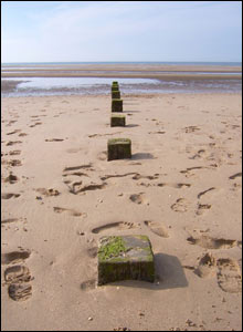 Wendy Artiss took this picture on Rhyl beach after all the visitors had left for home