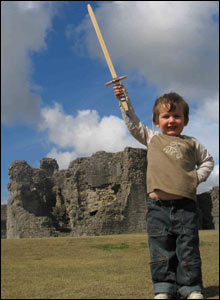 Simon Adey-Davies took this shot of his eldest son, Caeo, inside Denbigh Castle