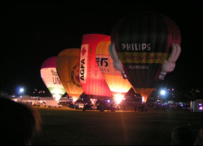 "A night shot from the ""Big Balloon Festival"" held at Blackwood (Doug Urquhart-Mitchell)"