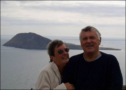 Paul Sivyer sent in this shot of his aunty and uncle Gina and Harold Garman at Bardsey Island