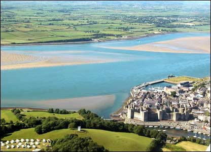 Peter Bent was on a scenic flight when he took this view of Caernarfon Castle