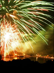 Mark Westlake sent in this shot of the fireworks finale to the Llandrindod Wells Victorian Festival