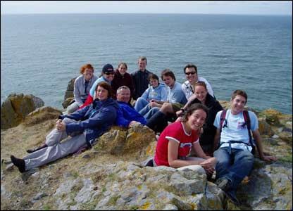 David Pike sent in this shot of a group from Hope Church, Cardiff on top of the Worms Head, Gower, after an exhilarating walk