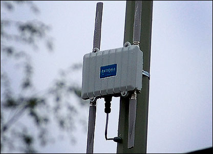 A Wi-fi transmitter in Norwich
